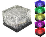 6pc - Solar Powered LED Frosted Ice Rock - Garden Pathway Light