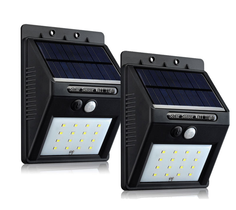 2pc- 16 LED Outdoor Solar Powered Wireless Waterproof
