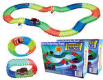 2  Magic Light Up Glow In the Dark Twisting Race Tracks Deluxe Sets