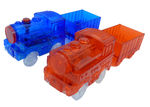 2pc - Magic Twister Glow In the Dark Race Vehicles - Train Set
