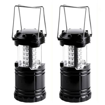 2 - Military Tough Tac Light Collapsible LED Tactical Lantern - Ultra Bright & Portable -  For Hiking Camping Home Power Outages or Other Emergencies