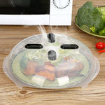 Microwave Hover Anti Splattering Magnetic Food Cover -Microwave Splatter Lid with Steam Vents -2pc