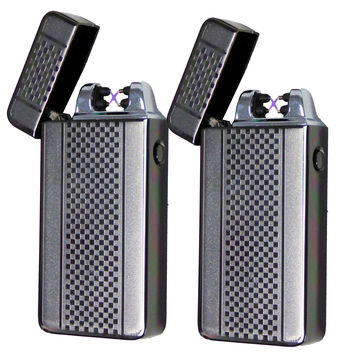 2 Tactical Dual Arch Beam Lighter - As Seen On TV USB Electric Plasma Torch Tac Lighter /w Gift Box