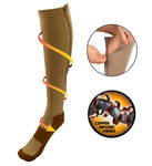 Copper Infused Zipper Compression Closed Toe Socks - Zip Up Circulation Pressure Stockings
