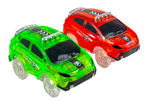 2 Magic Twister Flexible Glow In the Dark Race Car Track Vehicles - New  New Turbo SUV Race Cars