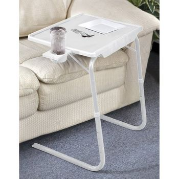 Portable & Foldable Comfortable TV Tray Table w/Cup Holdertable